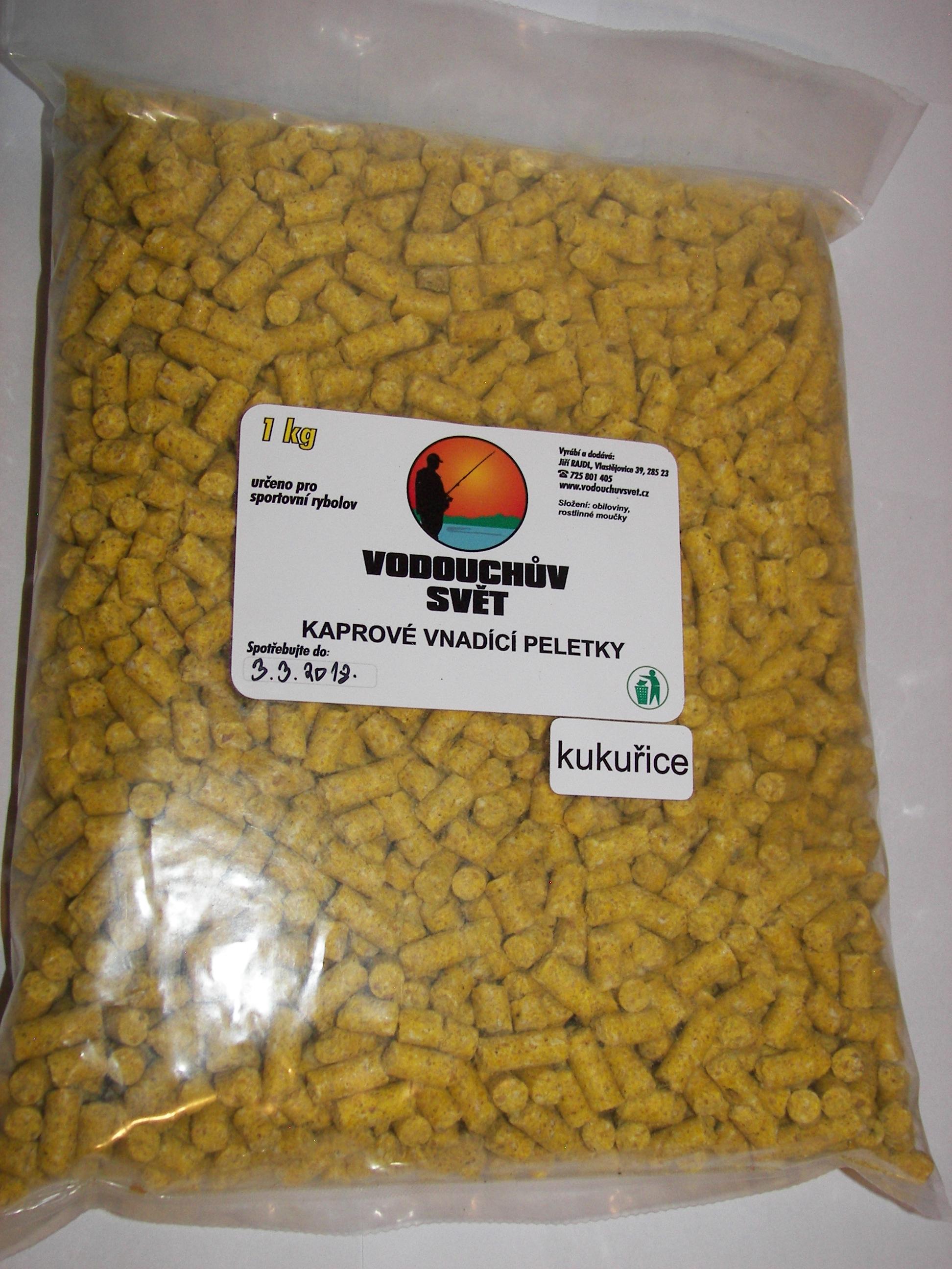 Vnadící peletky Kukuřice 1Kg